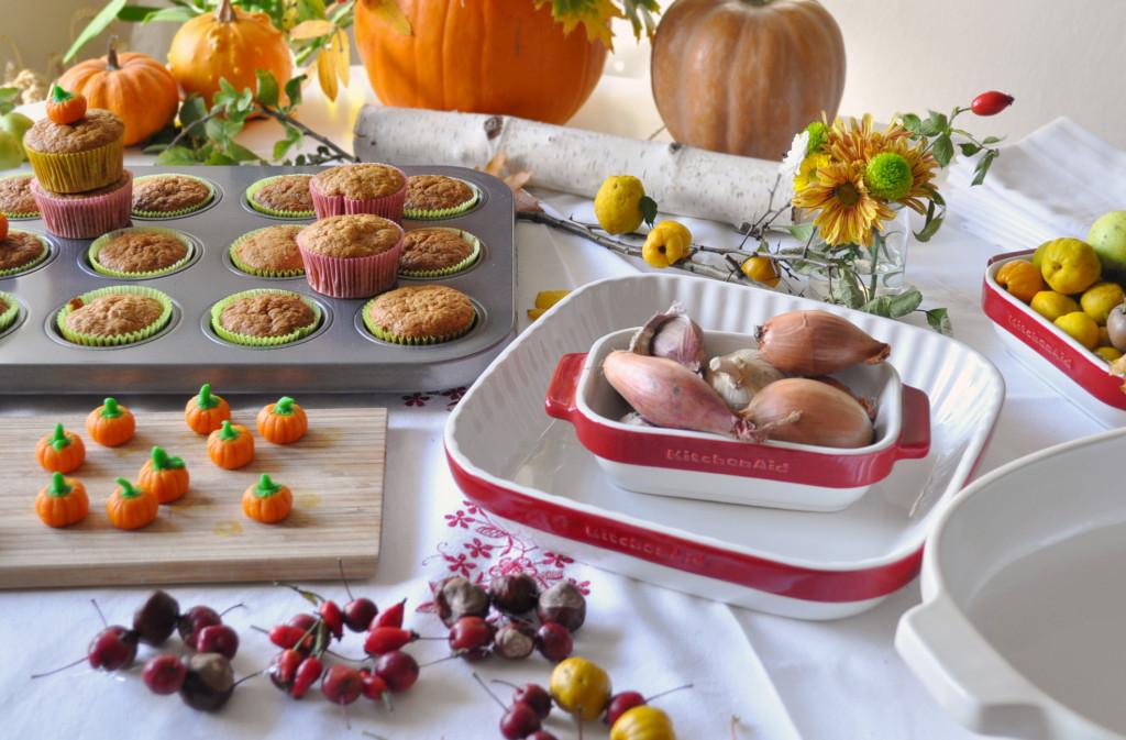 a jesen pripravy ráno na stole