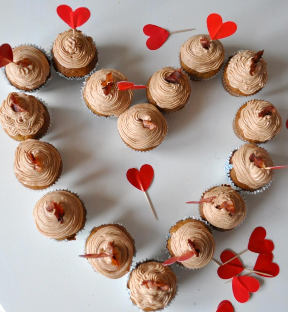 a cupcake srdce z nich