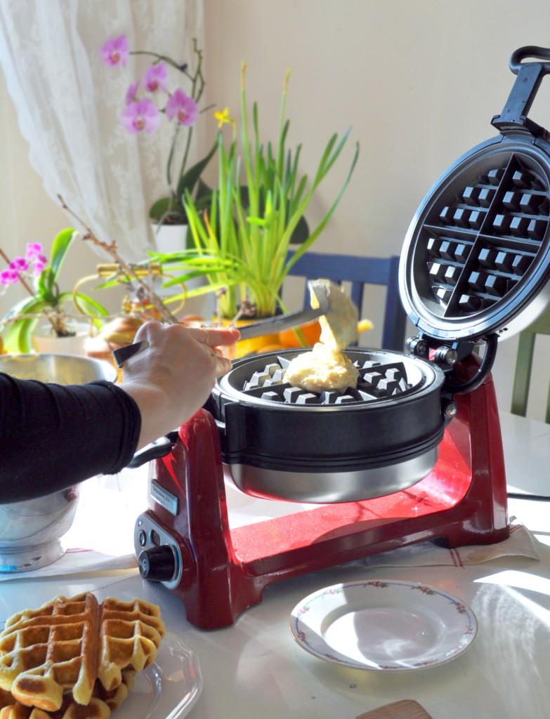 a wafle stroj plnenie