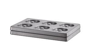 Forma na koblihy (na 6 ks), sada 2 ks KBNSS06DG 27,3 x 18,2 x 4 cm K pečení koblihů.