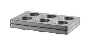 Forma na muffiny (na 6 ks), sada 2 ks KBNSS06MF 18 x 27,5 x 5 cm K pečení muffinů a cupcaků.