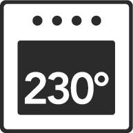 Odolné teplotám až do 230°C