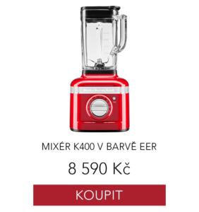 mixer kitchenaid v červené barvě