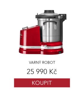 varný robot kitchenaid v červené barvě