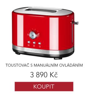 Toustovač KitchenAid v červené barvě